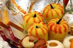 Indische Snoepjes - Mithai royalty-vrije stock afbeeldingen