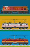 Indische spoorwegmotor vector illustratie