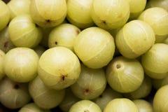 Indische Stachelbeere oder Frucht Amla oder des avla, selektiver Fokus stockbilder