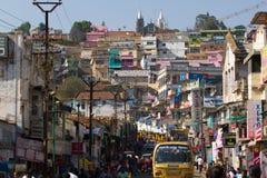 Indische stad Ooty, Coonor, Nilgiris, Tamil Nadu stock foto