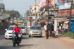 Indische Stadt von Mangalur Lizenzfreie Stockbilder