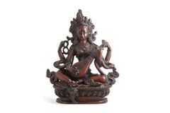Indische Statue lokalisiert auf Weiß Stockfotos