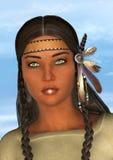 Indische Statue Santa Fe New Mexiko Stockfotos