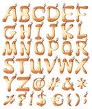 Indische stijlbrieven van het alfabet Royalty-vrije Stock Afbeeldingen