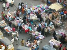 Indische straatMarkt Stock Afbeelding