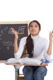 Indische Studentfrau, die Matheprüfung studiert Lizenzfreie Stockfotografie