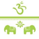 Indische symbolen Royalty-vrije Stock Fotografie