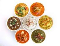 Indische Teller Stockfotos