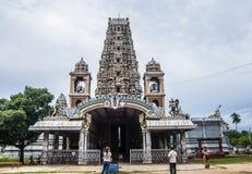 Indische tempel met mooie architectuur Royalty-vrije Stock Foto's