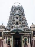 Indische tempel met mooie architectuur stock foto