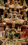 Indische tempelstandbeelden stock afbeelding