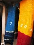 Indische textiel Royalty-vrije Stock Foto's