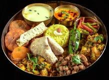 Indische Thali stock foto