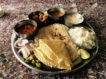Indische Thali stock fotografie