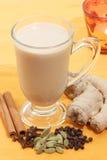 Indische thee met kruiden Royalty-vrije Stock Afbeeldingen