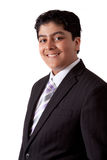 Indische Tiener in een Kostuum Stock Afbeelding