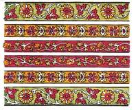 Indische Traditionele TextielDes Stock Afbeelding