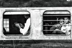 Indische trein Royalty-vrije Stock Foto