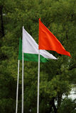 Indische tricolor nationale vlag Stock Foto's
