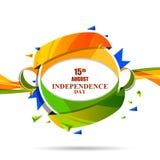 Indische tricolorachtergrond voor 15de August Happy Independence Day van India stock illustratie