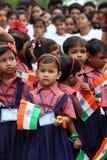 Indische Unabhängigkeitstagschulfeier Stockfotos