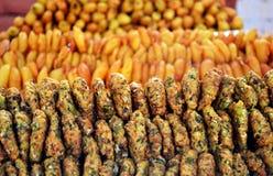 Indische ungesunde Fertigkost Stockbild