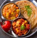 Indische veg Mahlzeiten stockfotos