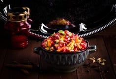 Indische Vegetarische Biryani met kruiden Royalty-vrije Stock Afbeeldingen