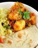 Indische Vegetarische Kerrie Stock Afbeelding