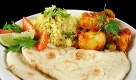 Indische Vegetarische Kerrie Royalty-vrije Stock Foto's