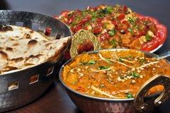 Indische Vegetarische maaltijd royalty-vrije stock afbeelding