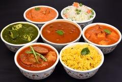 Indische Vegetarische Maaltijd Stock Afbeeldingen