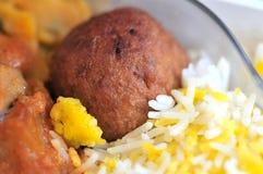 Indische vegetarische Mahlzeit Stockbild