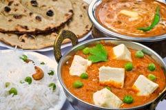 Indische vegetarische Mahlzeit Lizenzfreies Stockbild
