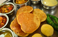 Indische Vegetarische Rajasthani-thali royalty-vrije stock fotografie
