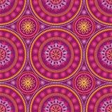 Indische Verzierung, kaleidoskopisch, Mandala. lizenzfreie abbildung