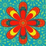 Indische Vierkante Grafisch Royalty-vrije Stock Afbeelding