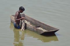 Indische visser Stock Foto
