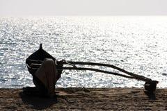 Indische vissersboot Stock Foto's