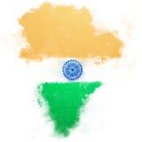 Indische vlag Royalty-vrije Stock Foto's