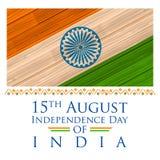 Indische Vlag met houten textuur Stock Afbeeldingen