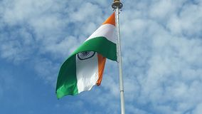 Indische vlag voor 26 Januari en 15 Augustus royalty-vrije stock afbeelding