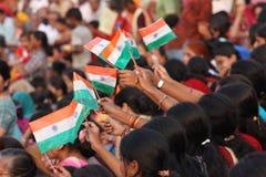 Indische Vlaggen Royalty-vrije Stock Fotografie