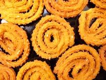 Indische voedsel-Chakli Stock Afbeeldingen