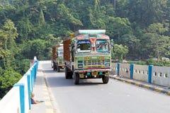 Indische vrachtwagen, West-Bengalen, India Stock Foto's