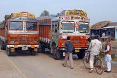 Indische vrachtwagens Stock Afbeeldingen