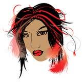 Indische vrouw Stock Afbeeldingen