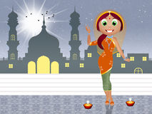 Indische vrouw royalty-vrije illustratie