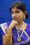 Indische vrouw. Stock Fotografie