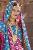 Indische vrouw - Rajasthan - India Stock Foto
